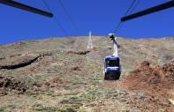Cable carts in Teide National Park