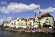 The Spree and 'the Alex' in Berlin