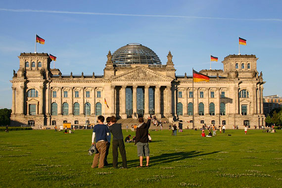 The Reichstag Palace in Berlin, Germany