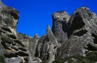 The rocky peaks of the Meteora