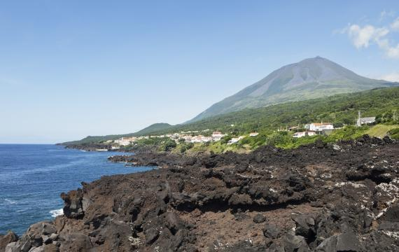 The volcanic cone of Pico (on Pico) :  - Portugal