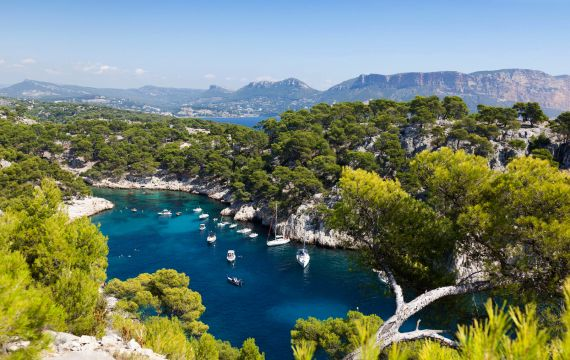View of the coves, France