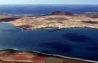 A panoramic view of La Graciosa Island