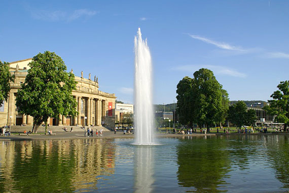 The grounds of Stuttgart's castle, Germany