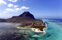 The east coast of Mauritius The south coast of Mauritius