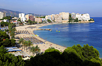 Majorca, the bay of Palma West, Spain