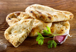 Garlic and coriander naan breads