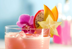 Refreshing Rose Lassi with orange blossom