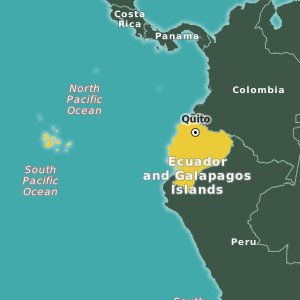 map Ecuador and Galapagos Islands