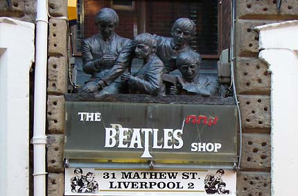 The Beatles' shops in Liverpool