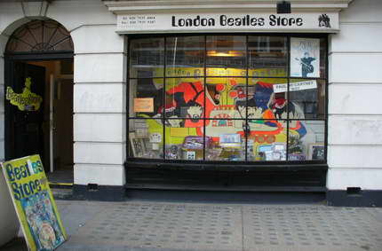 The Beatles shop in London