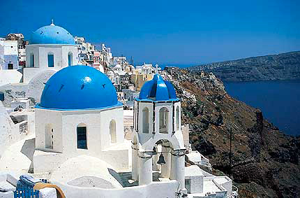Thira, on the cliff tops