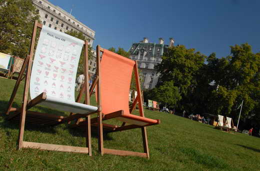 The Green Park deckchairs