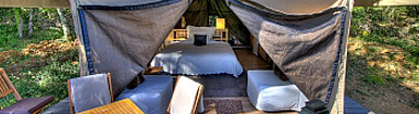 A fine balance: glamping, so chic